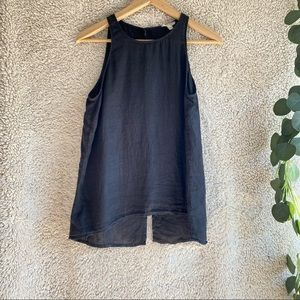 Joie Dany Linen Button Back Tank Top Size XS